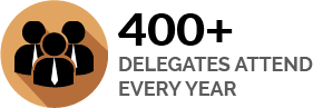 400+ Delegates Attend Every Year