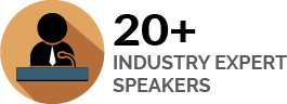 20+ Industry Expert Speakers